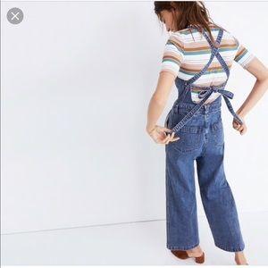 💕Rare💕Madewell Denim Tie-back jumpsuit XXS